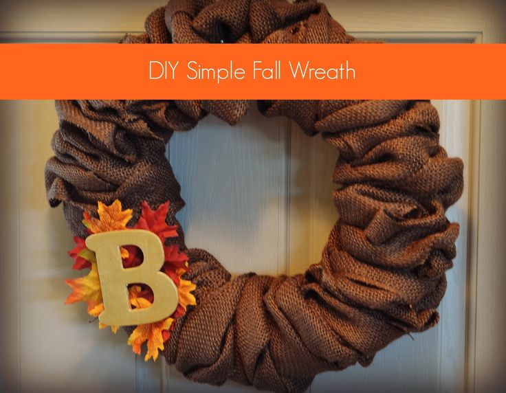 DIY Simple Fall Wreath - Pretty Well Organized
