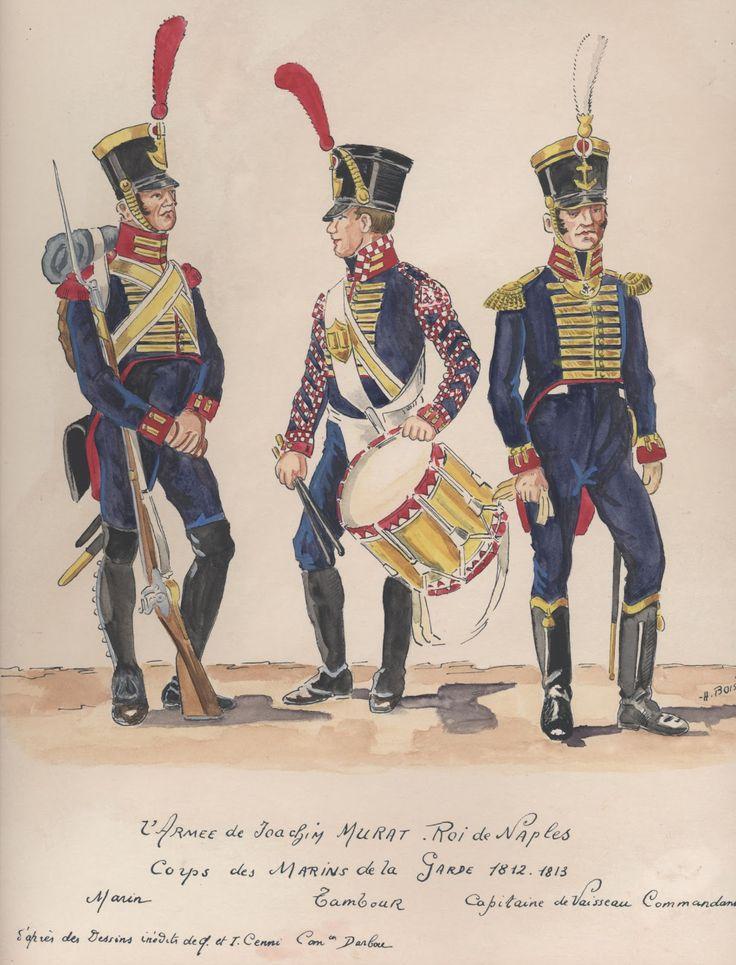 Fuciliere, tamburo e capitano di vascello del regno di Napoli