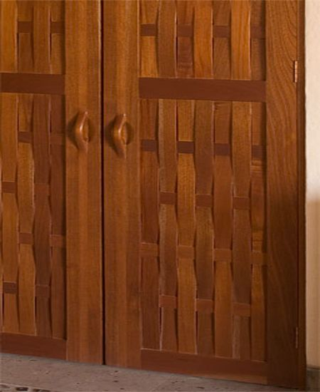 Unique modern wood door design by victor klassen double for Simple wooden front door designs