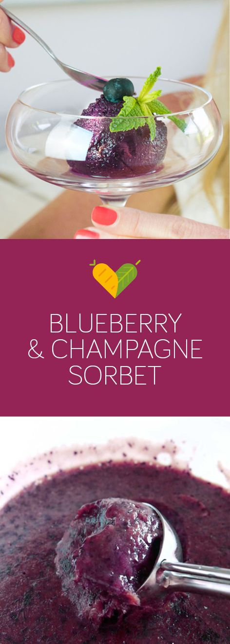 Sweetie darling, have some of this absolutely lush blueberry & champagne sorbet, you know you deserve it. When you are too busy with your fabulous life then this vegan sorbet is perfect for you. Only three ingredients, no churning, no hassle and you might as well enjoy a glass of champagne or two in the process. Could life get any better?