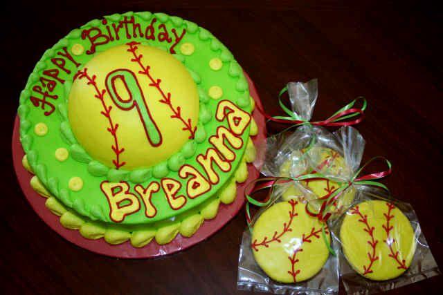 softball: Sports Softball, Softball Birthday Cakes, Cakes Cookies, Cakes Ideas, Softball Cakes, Softball Parties, Cute Cakes, Softball Sports, Sports Cakes
