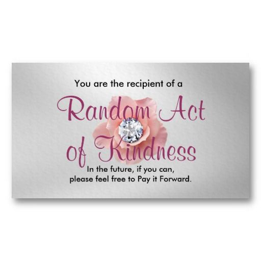 Random Act Of Kindness Cards Created By Ranchlady