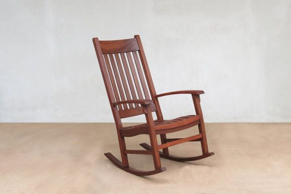 This Rocking Chair is handcrafted from solid Rosita Walnut tropical hardwood. It is perfect for indoor or covered patio use. This rocker is a welcome addition to any living room, bedroom, or nursery. All of the wood used is our eco friendly furniture is sustainable sourced from