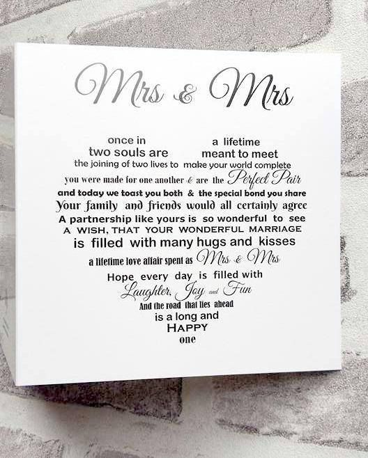 Check out this item in my Etsy shop https://www.etsy.com/uk/listing/542057878/lesbian-wedding-card-lesbian-couple-mrs