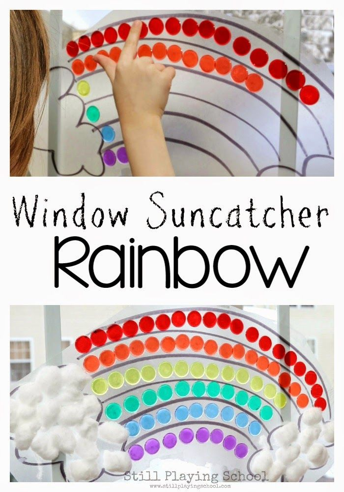 Still Playing School: Contact Paper Window Rainbow