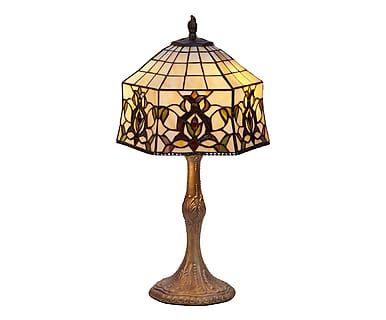 Lampada da tavolo in zinco e vetro Hexa, 30x48 cm