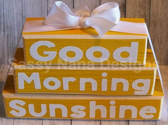 Good Morning Sunshine Letter : Best images about etsy finds on pinterest wood