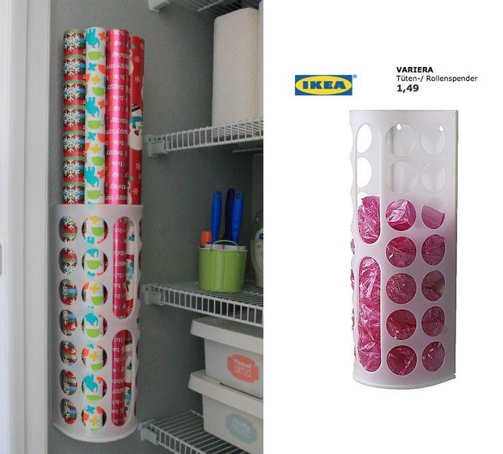 happy organized geschenkpapier organisation ideen f r ordnung und aufbewahrung. Black Bedroom Furniture Sets. Home Design Ideas