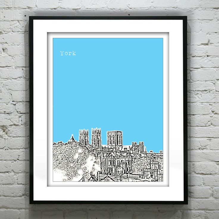 York England Poster  Art Print UK Britain by AnInspiredImage, $18.95
