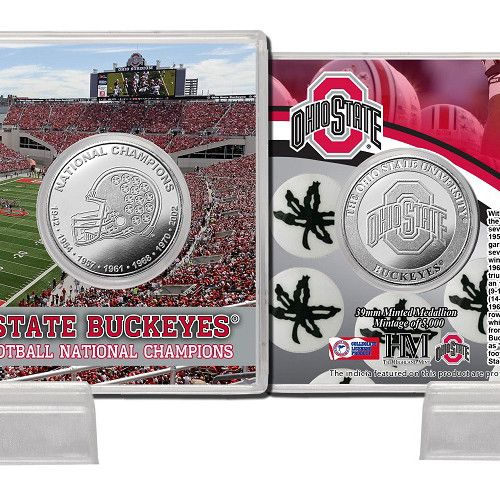 Ohio State Buckeyes in7-Time National Championsin Minted Coin Card