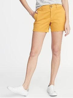 c6b830d23e Mid-Rise Twill Everyday Shorts for Women - 3 1/2-inch inseam in 2019 ...