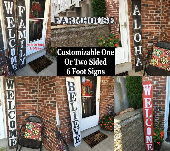 Wood welcome porch sign, Front porch welcome sign, Front porch distressed welcome sign, Front porch wood welcome sign, welcome porch signs
