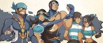 Team Aqua (Pokemon Alpha Sapphire). Their new design is so much better here than in the original games. Aqua Boss Archie, Admin Shelly, Admin Matt, Male Grunt, Female Grunt (from left to right)