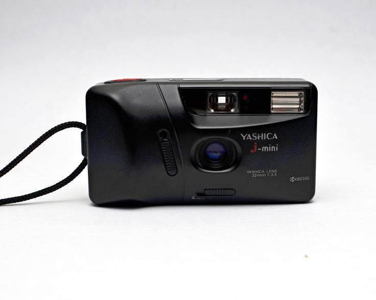 YASHICA j-mini 35mm Film Camera Point and Shoot 32mm Lens Compact Autofocus Kyocera by ValueBliss on Etsy