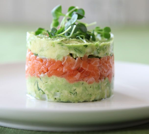 Salmon and Avocado Towers - Quick and Easy Recipes, Organic Food Recipes, New Zealand Cooking Recipes - Annabel Langbein
