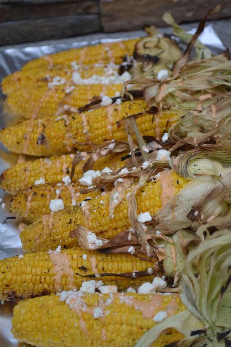 The best end of summer side dish? Corn on the cob with crumbled feta cheese. Summer Entertaining: Beach Lobster Feast