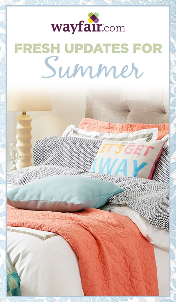 Stylish multi-piece sets take the guesswork out of making a beautiful bed, while colorful throw pillows and blankets let you personalize your look. Sale ends 5/16/15.