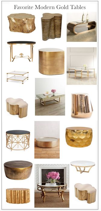 favorite modern gold coffee and end tables