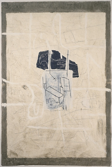 Mimmo Paladino Untitled (Veroniche), 1988 mixed media on paper 68 3/4 x 46 1/4 inches 174.6 x 117.5 cm SW 89041 Private Collection