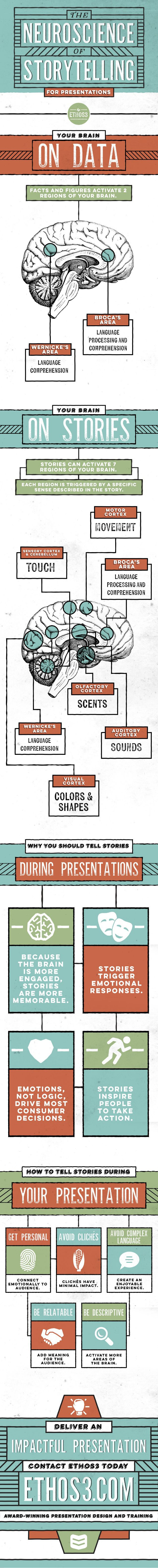 The Neuroscience Of Storytelling - #infographic