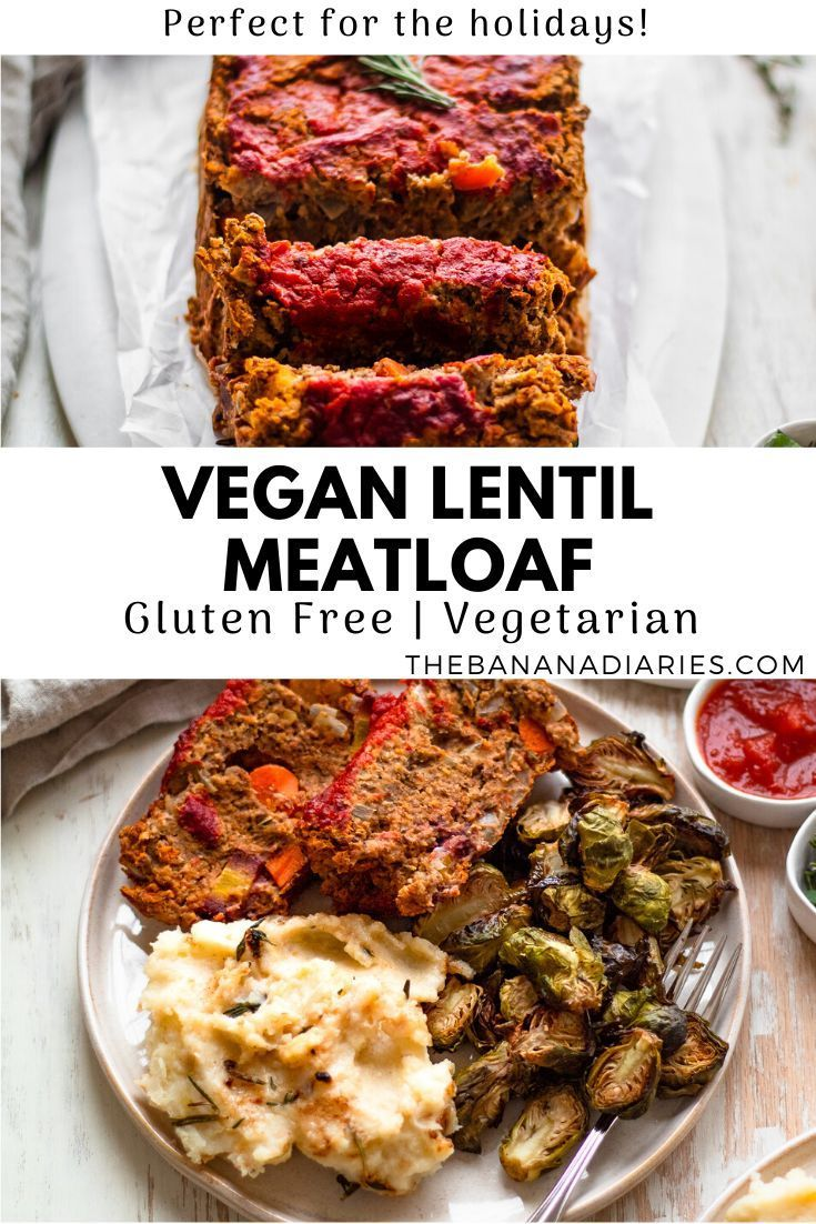 Vegan hummus lentil loaf that's perfect for all eaters! Easy to make, made with simple gluten free ingredients, and a great healthy main dish for the holidays and Thanksgiving! #vegan #glutenfree #thanksgiving #healthydinner