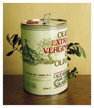 olio extravergine in latta