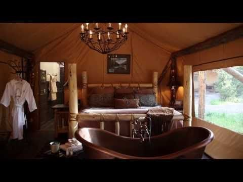 Glamping in Luxury Tents - North Bank Camp - The Resort at Paws Up
