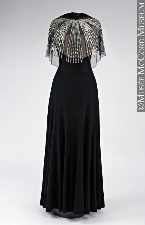 1934 - Evening Dress  Back - by Jeanne Lanvin The McCord Museum