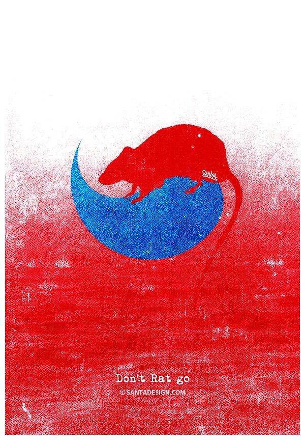 붉은 어둠 걷히면... Don't Let go. Don't Rat go. #Rat #쥐 #말장난그림장난 http://jokelarge.tistory.com