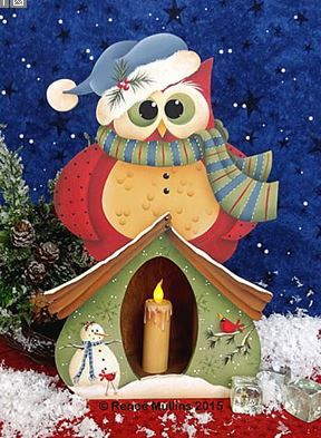 #685 Winter Owl Candle Box (PATTERN)