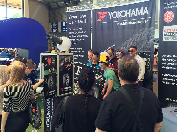 #socialmedia #photo #action bei #yokohama #Reifen auf der #tuning world - Spass, Fun und viele Besucher