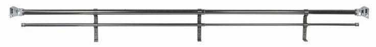Perilla Double Curtain Rod & Hardware Set