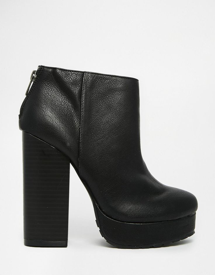 Image 2 ofCall It Spring Leawen Black Block Heel Shoe Boots