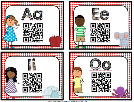 QR codes in the classroom?! Students can scan them with iPads/iPods. Cool!!