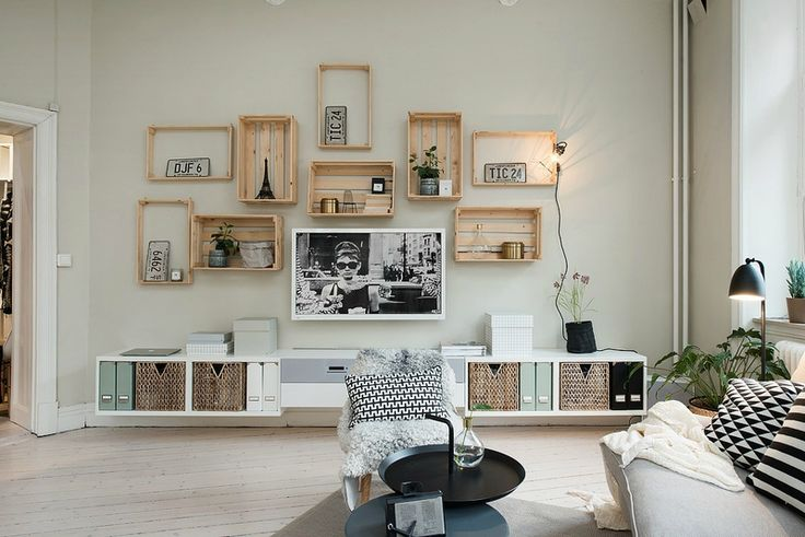 Int rieur scandinave cagettes tag res et jolie cuisine for Objet de decoration interieur maison