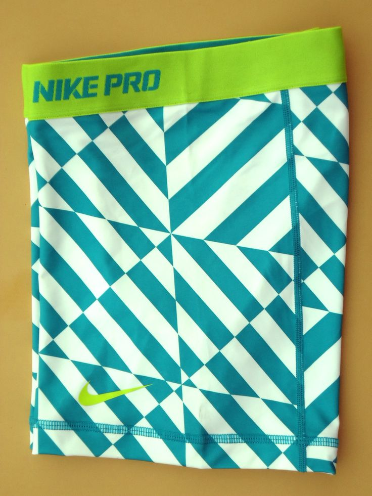 "New Green White Lime M Nike 5"" Pro Core Women's Compression Shorts Medium 