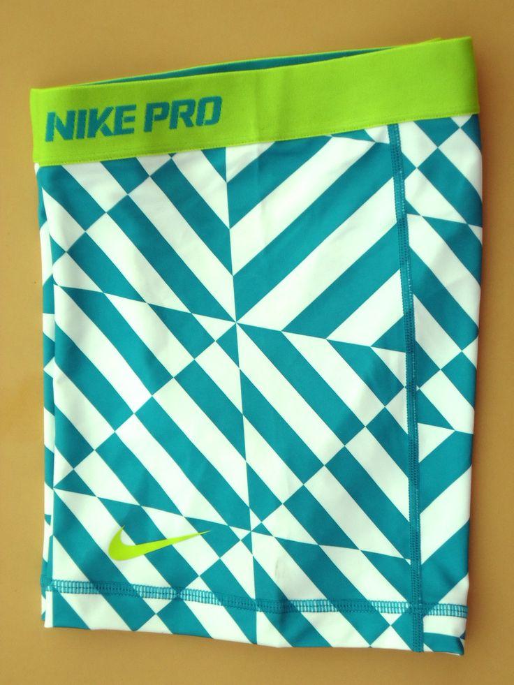"New Green White Lime M Nike 5"" Pro Core Women's Compression Shorts Medium | eBay"