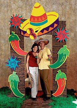 Mexican fiesta decorations ... photo op for Book Fair ... make sure to add books & reading quotes to the frame