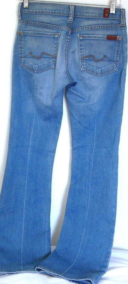 adae24b9 7 For All Mankind Bootcut Jeans Size 25 X 30 by Jerome Dahan Made In USA  #7ForAllMankind #U0750630
