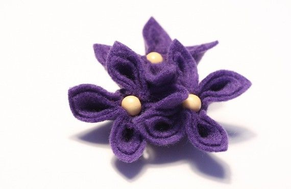 Purple Passion Flower Brooch by GoodFloristDesign on Etsy, $19.00