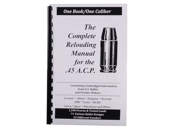 "Product detail of Loadbooks USA ""45 ACP"" Reloading Manual"