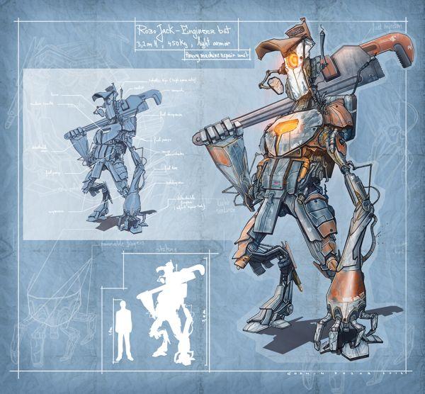 916 best u003cu003eRobotopia images on Pinterest Character design - new robot blueprint vector art