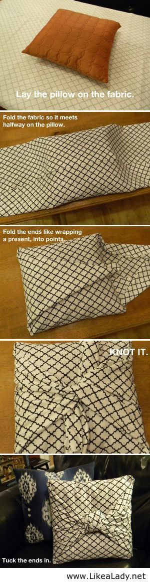 Wrap your own pillows