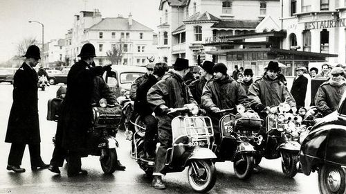 Mods in Brighton, England, 1964. Photo by Terry Disney.