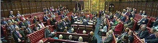 2012 Coalition government drops House of Lords reform plans. In 1911 the Parliament Act looked forward to second chamber selected on a popular basis: http://www.legislation.gov.uk/ukpga/Geo5/1-2/13/introduction