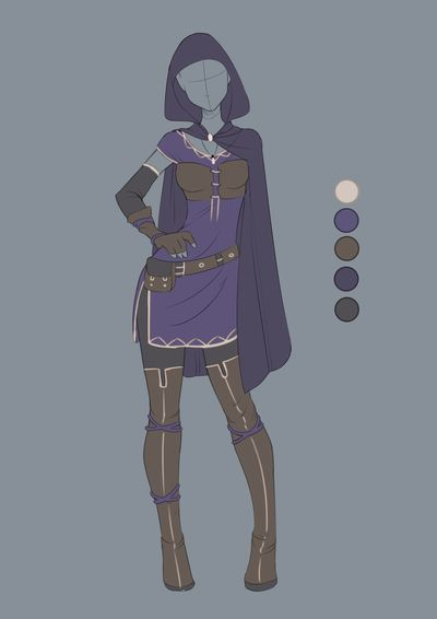 :: Commission April 07: Outfit design by VioletKy on DeviantArt
