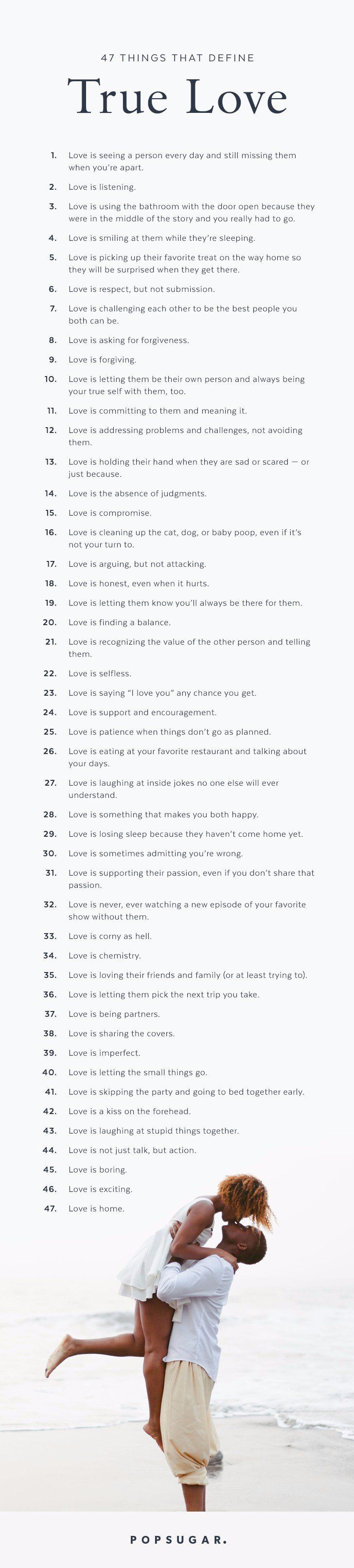 47 Things That Define True Love