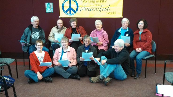 The Newaygo County People for Peace reading King's Letter in Michigan at the Fremont Area District Library.