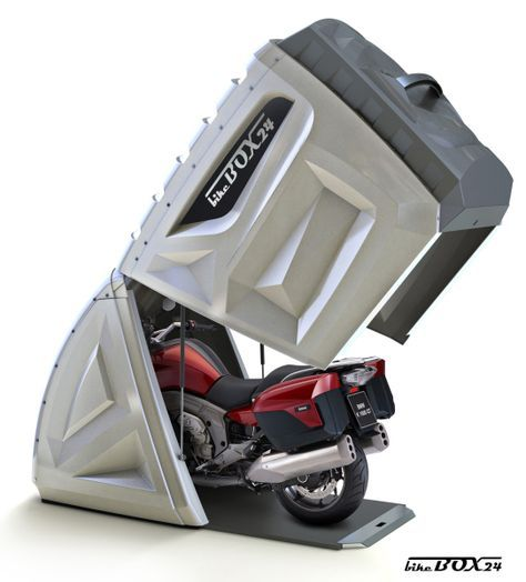 Need a place to store your bike? BikeBox24......This standard version is suitable for all sport motorcycles, scooters, small and medium Tourer, and Chopper.