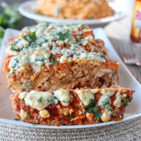 This meatloaf recipe combines the delicious flavors of blue cheese, buffalo chicken and lean pork into the perfect dinner dish.